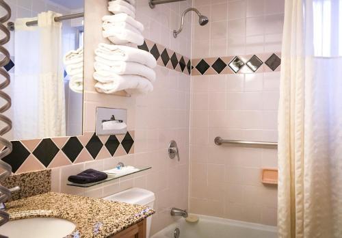 A bathroom at Tyrolean Lodge