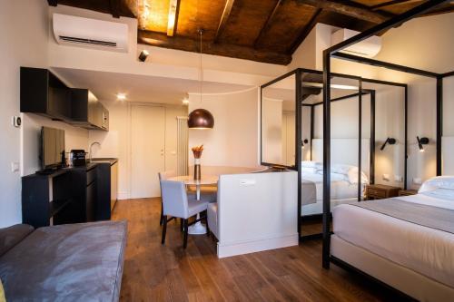 Coin salon dans l'établissement Hotel Smeraldo