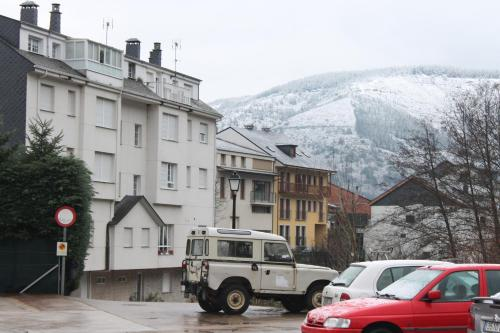 Hostal Burbia during the winter