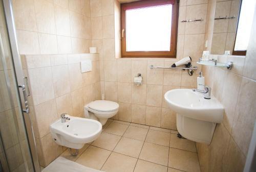 Kúpeľňa v ubytovaní Penzion Trattoria