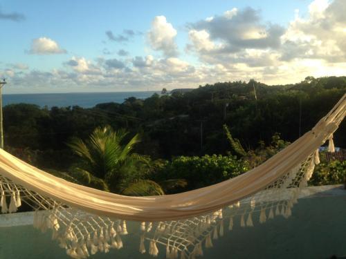 A porch or other outdoor area at Espelho Bahia Blue House