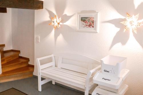 Een zitgedeelte bij Fachwerk Ferienhaus Cochem