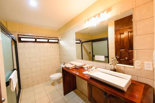 A bathroom at Hotel Flor De Sarta