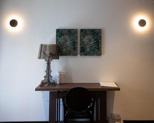 A kitchen or kitchenette at Andromeda Suites