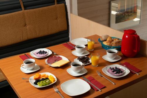 Frühstücksoptionen für Gäste der Unterkunft Seepark Kirchheim Haus Mathilde
