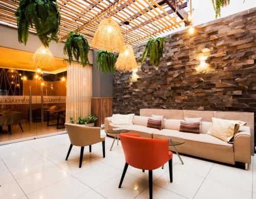 The lounge or bar area at El Tambo 2
