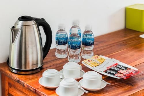 Coffee and tea making facilities at Prek Kdat Resort