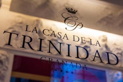 A certificate, award, sign or other document on display at La Casa de la Trinidad