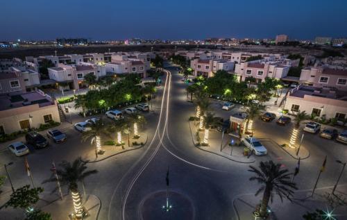 Uma vista aérea de Alreem Village Hotel