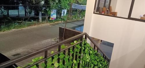 A balcony or terrace at NYENYAK MRT Lebak Bulus Simatupang