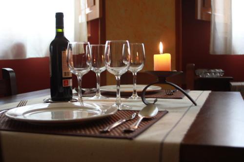 A restaurant or other place to eat at El Jardin de la Huerta