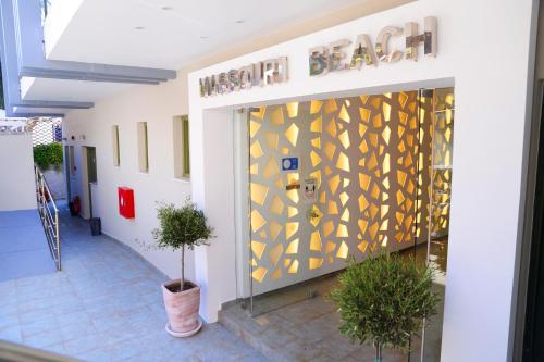 The lobby or reception area at MASSOURI BEACH HOTEL