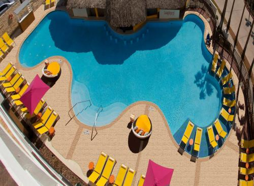 The swimming pool at or near DoubleTree by Hilton Galveston Beach
