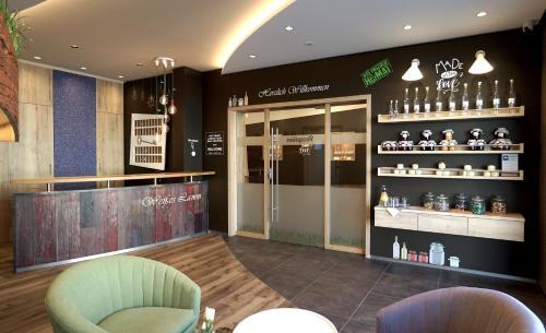 Lounge oder Bar in der Unterkunft Gasthof Weißes Lamm