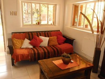 A seating area at Shanti Hostel