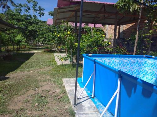 A patio or other outdoor area at Amazonia guest house