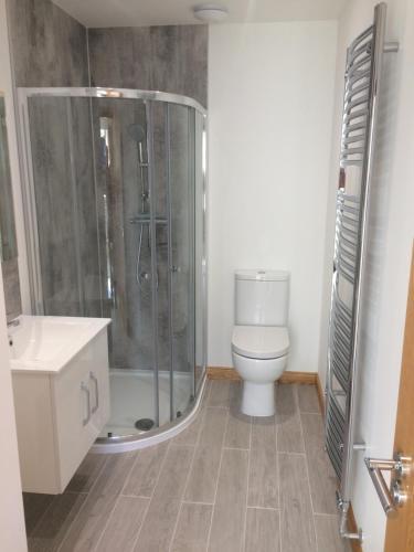 A bathroom at The Den
