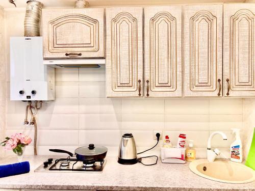 Кухня или мини-кухня в Квартира в Центральном районе