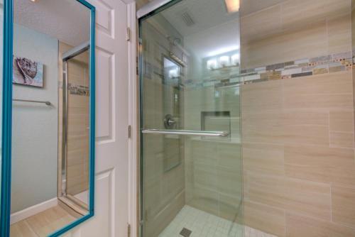 A bathroom at The Ringling Beach House
