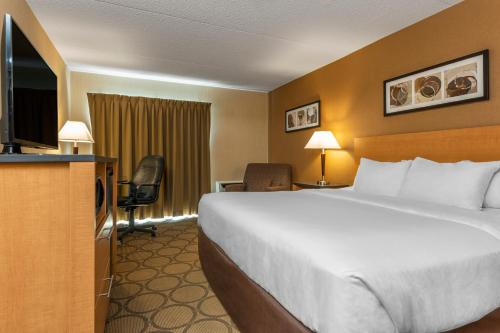 A bed or beds in a room at Comfort Inn Airport East