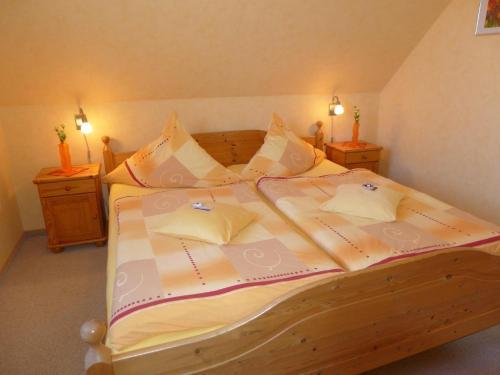 """Ein Bett oder Betten in einem Zimmer der Unterkunft  Ferienwohnung """"Meeresbrise"""""""