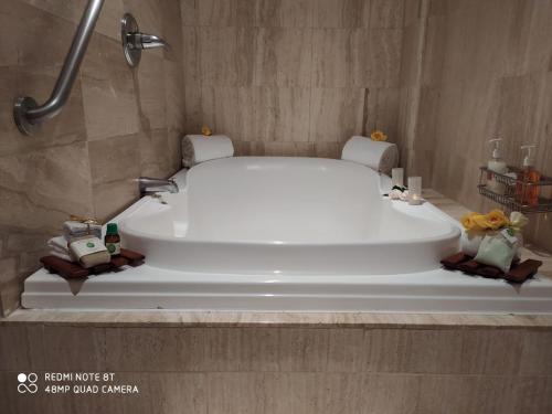 A bathroom at Bogota Plaza Hotel
