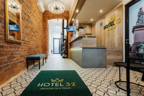 The lobby or reception area at Hotel 32 Kraków Old Town