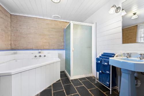 A bathroom at Elinike Guest Cottages