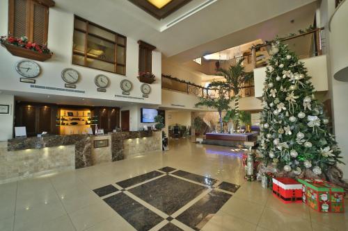 The lobby or reception area at Princessa Hotel