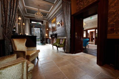 The lobby or reception area at The Bonham
