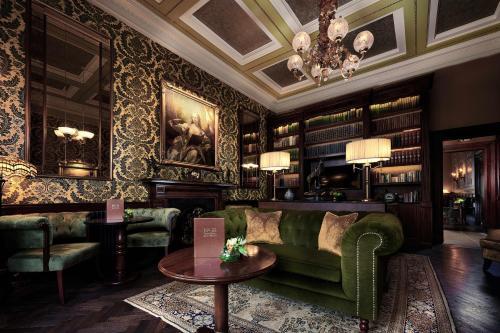 The lounge or bar area at The Bonham