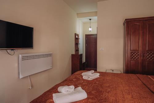 A television and/or entertainment center at HOTEL INTERNATIONAL