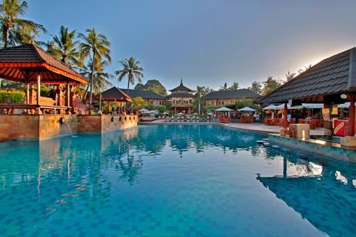 The swimming pool at or near Jayakarta Hotel Bali