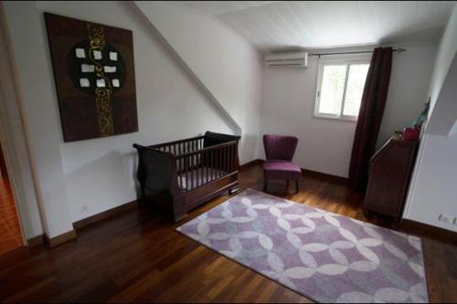 Coin salon dans l'établissement Villa Bel'Ombre - Chambres d'hôte