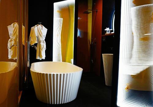 A bathroom at Malmaison Hotel Leeds