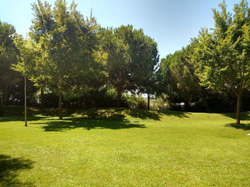 A garden outside Centre Esplai Albergue