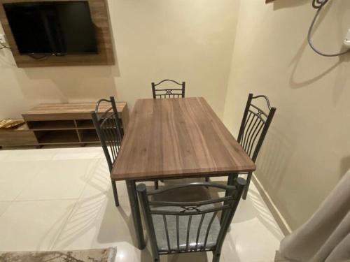 Espaço para refeições no apartamento