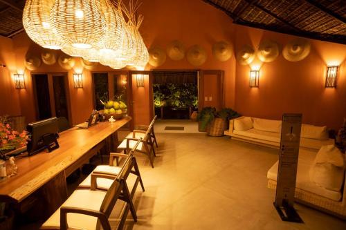 O lounge ou bar de Hotel da Pipa