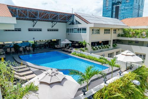The swimming pool at or close to Rex Hotel