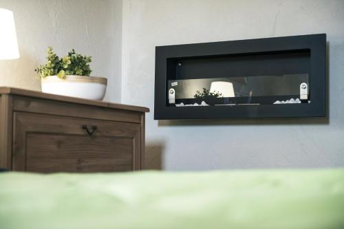 A television and/or entertainment center at Finca Jabali