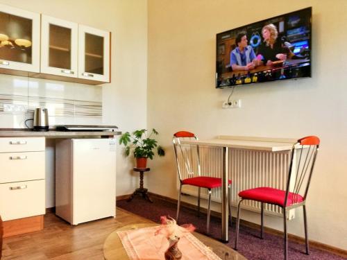 Телевизор и/или развлекательный центр в Dj-penzion