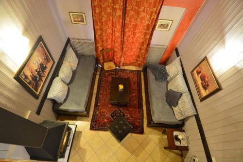 Χώρος καθιστικού στο Aphrodite's Inn Kalavrita