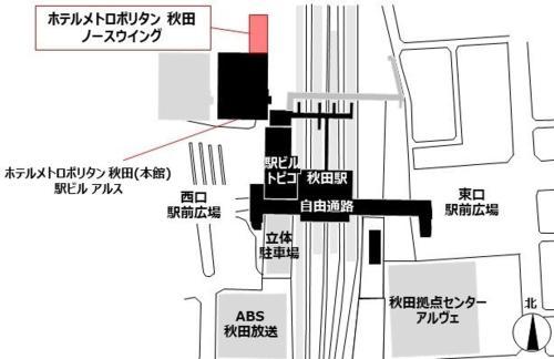 The floor plan of Hotel Metropolitan Akita