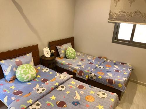 Cama ou camas em um quarto em شقة مستقلة في فيلا سكنية