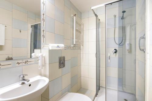 Ванная комната в Interferie Aquapark Sport Hotel Malachit