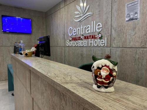 The lobby or reception area at Centralle Sorocaba Hotel