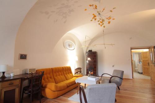 Posedenie v ubytovaní Apartmán Tri Klenby