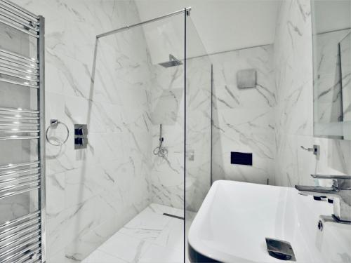 A bathroom at Lord Street Apartments