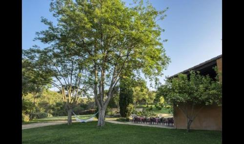 A garden outside Estanyol Villa Sleeps 14 with Pool