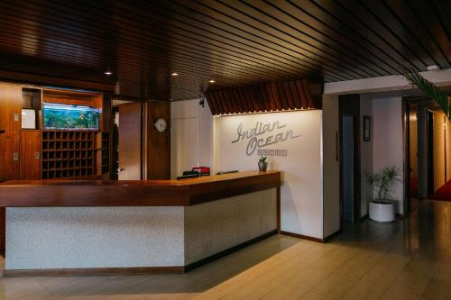 The lobby or reception area at Indian Ocean Hotel